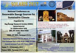 the bag energy research society g n tiwari organizing secretary solaris 2017 thank you regards neha dimri research scholar n institute of technology iit delhi