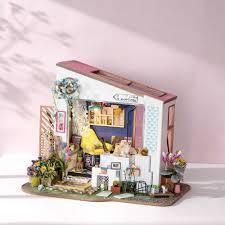 ROBOTIME <b>DIY Wooden Miniature Dollhouse</b> Kit-Handcraft House ...