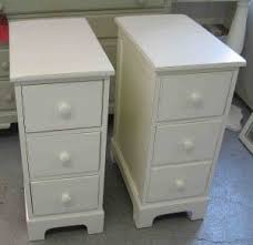 ideas bedside tables pinterest night: narrow bedside tables perfect for a small space still offers plenty of storage