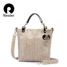 Realer <b>woman handbag Genuine Leather Bags</b> Female Snake ...