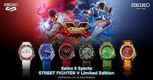 Seiko 5 Sports STREET FIGHTER V <b>Limited Edition</b> | Seiko Watch ...