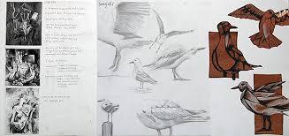 International GCSE Art Sketchbook  Coursework Project     example of analysis   gcse art sketchbook annotation