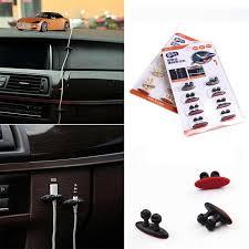 8Pcs <b>Lot Car Wire Cable</b> Holder Tie Clip Fixer Organizer Adhesive ...