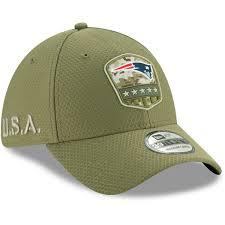 <b>Men's</b> New Era Olive New England Patriots <b>2019</b> Salute to Service ...
