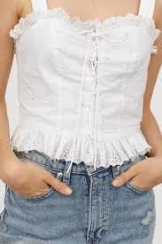 Top with Eyelet <b>Embroidery</b> | Tops, Clothes, <b>Lace</b> tops