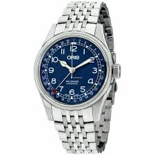 Oris Big Crown <b>Pointer</b> Date <b>Blue</b> Dial Stainless Steel Men's... for ...