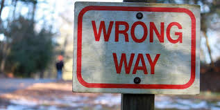 Image result for wrong way trump