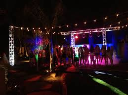 outdoor party dance dj club lighting and truss event rental backyard party lighting