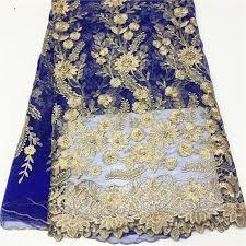 <b>African blue Lace</b> Fabric Wedding dress French <b>Nigerian</b> tulle net ...