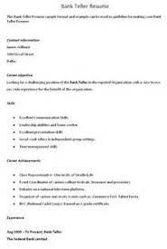 resume for teller job   example good resume templateresume for teller job