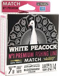 <b>Леска Balsax White Peacock</b> Match, 150 м, 0,14 мм, 3,0 кг — купить ...