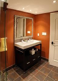 burnt orange furniture bathroom traditional with clear glass shower door glass block burnt orange furniture