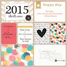 the friday fave project life be bright themed cards a beautiful project life 2015 title page