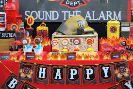Firefighter Cupcake Decorations Fireman Birthday Fire Fighter Cupcake Toppers Fire Station