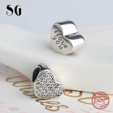 <b>SG</b> Charms sterling <b>Silver 925 Original</b> Hearts shape pandora ...