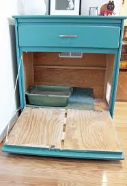 there are many hidden litterbox ideas on the internet but i love how easy arena kitty litter box