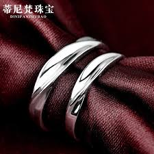 Silver <b>jewelry S925 pure</b> silver couple <b>ring</b> male and <b>female</b> student ...