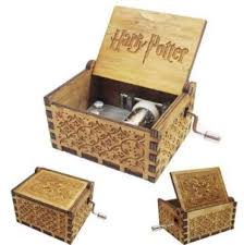 Tiny <b>Music</b> Box For <b>Harry Potter</b> Fans Engraved <b>Wooden</b> Hand ...