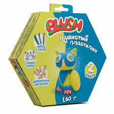 """Пушистый пластилин """"<b>PLUSH</b>"""" <b>набор для лепки</b> синий + желтый ..."""