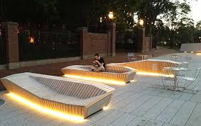image charles mayer plaza 9 bench lighting
