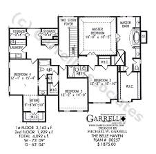 Belle Haven House Plan   Craftsman House Plans    belle haven house plan   nd floor plan