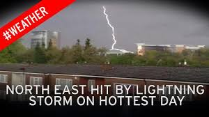 video thumbnail lightning storms hits newcastle during hottest day and there are more to follow breaking lighting set