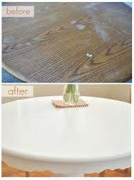 tutorial for painting a kitchen table including prep and sealing top coat great tips from centsational girl painting furniture