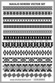 Navajo Border Vector Set Black And White