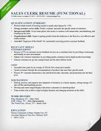 sales clerk functional resume example resume samples for retail sales associate