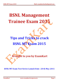 strategy guide to crack bsnl management trainee exam by strategy guide to crack bsnl management trainee exam 2015 by examkart issuu