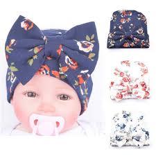 Newborn baby <b>hat Flower</b> Bowknot baby <b>cap Infant Girls</b> autumn ...