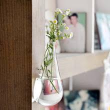 Настенная стеклянная <b>ваза в форме</b> капли воды садовые ...