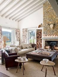 rustic style living room clever: elegant and sophisticated restored old barn