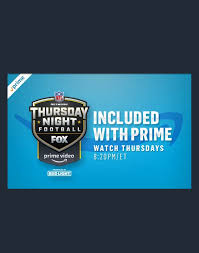 2019 NFL Thursday Night Football schedule on Prime Video