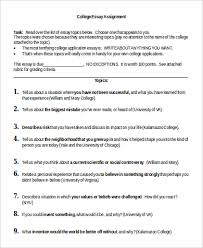 example of college essay samples in word pdf essay assignment example
