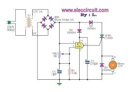 scr dc motor speed control circuit using ic cmos dc motor controller diagram scr and cmos ic