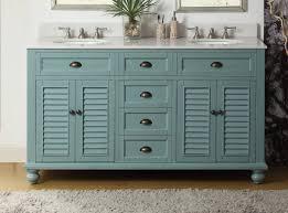bathroom vanity 60 inch:  inch bathroom vanity coastal cottage beach style blue color