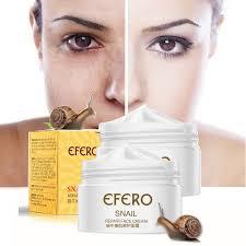 snail face cream with moisturizing anti wrinkle skin whitening hyaluronic acid serum freckle efero