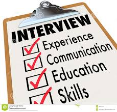 interview checklist job candidate requirements stock image image interview checklist job candidate requirements