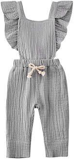 Wiwiane Baby Girl Sleeveless Ruffle Romper ... - Amazon.com