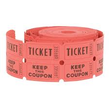 com double roll of raffle tickets ct colors vary com double roll of raffle tickets 500ct colors vary kitchen dining