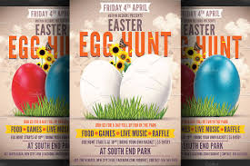 easter egg hunt flyer template flyer templates on creative market