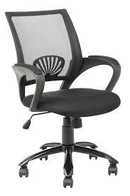 picture 2 of 4 black fabric plastic mesh ergonomic office