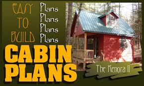 Easy To Build Cabin PlansCabinPlans