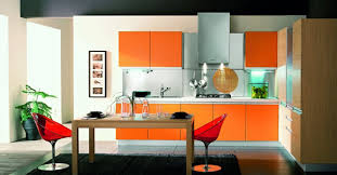 modular kitchen colors: orange kitchen  orange kitchen