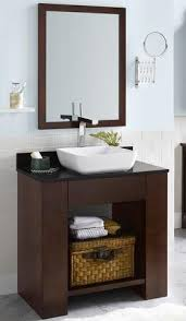 open bathroom vanity cabinet: the photo above is of a quot white open style bathroom vanity with a open bathroom vanity style tsc