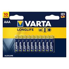 Элемент питания <b>VARTA Longlife</b> LR03 AAA бл 10 — купить в ...