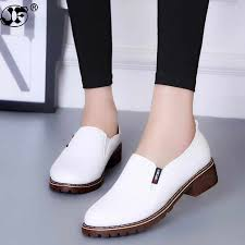 <b>2019 New Women</b> Flat Shoes Round Toe Lace Up Oxford Shoes ...