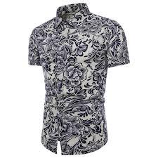 <b>2019</b> Plus Size <b>2019 Summer</b> Mens Shirt <b>Bohe</b> Floral Short Sleeve ...