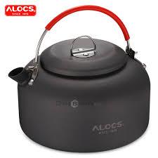 K03 <b>1.4L</b> Aluminum Outdoor Kettle for <b>Camping</b> Hot <b>Water</b> Tea